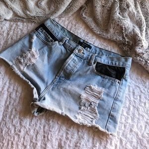 Forever 21 Jean & Leather shorts